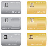 Gemini Zodiac sign. — Stock Vector