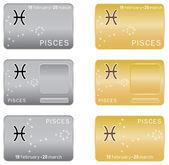 Pisces Zodiac sign. — Stock Vector