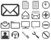 Set di icone per il web design. — Vettoriale Stock