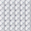 Crumpled paper with geometric seamless pattern. — Stock vektor