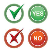 Button Yes and No. — Stock Vector