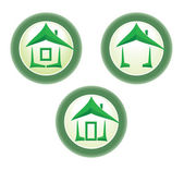Green home icon. — Stock Vector