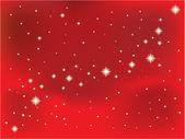 Shining star on a red vector background. — Stock Vector