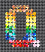 Alfabeto di mosaico colorato, lettera q. — Vettoriale Stock