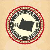 Vintage label-sticker cards of Oregon — Stock Vector