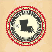 Vintage label-sticker cards of Louisiana — Stock Vector