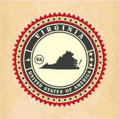 Vintage label-sticker cards of Virginia — Stock Vector