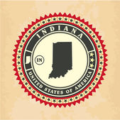 Vintage label-sticker cards of Indiana — Stock Vector