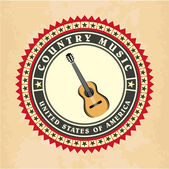 Vintage label country music vector — Stock Vector