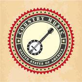Vintage etikett countrymusik vektor — Stockvektor