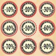 Vintage label  sales and discount — Stock Vector