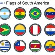 Vector de stock : World flags. South America.
