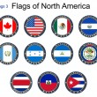 Flags of North America. Flags 3. — Stock Vector