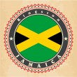 Vector de stock : Vintage label cards of Jamaicflag.