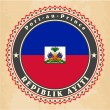 Cтоковый вектор: Vintage label cards of Haiti flag.