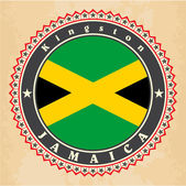 Vintage label cards of Jamaica flag. — Vetorial Stock