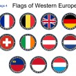 Flags of Western Europe. Flags 4. — Stock Vector