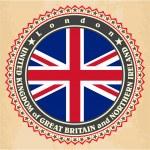 Vintage label cards of United Kingdom flag. — Stock Vector #41080899