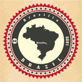 Vintage label-sticker cards of Brazil. — Stock Vector