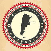 Vintage label-sticker cards of Argentina. — Stock Vector