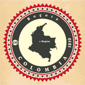 Vintage label-sticker cards of Colombia. — Stock Vector