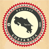 Vintage label-sticker cards of Costa Rica. — Stock Vector