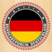Vintage label cards of Germany flag. — Stock Vector
