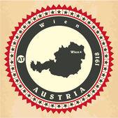 Vintage label-sticker cards of Austria. — Stock Vector
