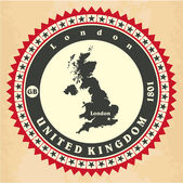 Vintage label-sticker cards of United Kingdom. — Stock Vector