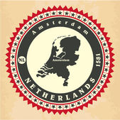 Vintage label-sticker cards of Netherlands. — Stock Vector