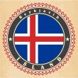 Vintage label cards of  Iceland flag.  — Stock Vector #41467951