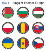 Flags of Eastern Europe. Flags 5.  — Stock Vector
