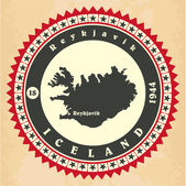 Vintage label-sticker cards of Iceland.  — Stock Vector