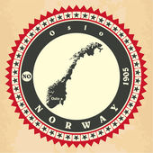 Vintage label-sticker cards of Norway.  — Stock Vector