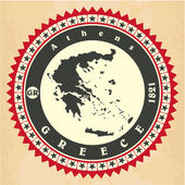 老式的标签贴纸卡的希腊. — 图库矢量图片