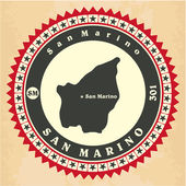Vintage label-sticker cards of San Marino.  — Stock Vector