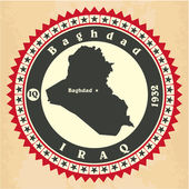 Vintage label-sticker cards of Iraq. — Stock Vector