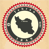 Vintage label-sticker cards of Iran.  — Stock Vector