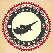 Tarjetas Vintage-etiqueta de Chipre. — Vector de stock