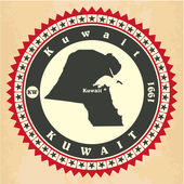 Vintage label-sticker cards of Kuwait.  — Stock Vector