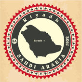 Vintage label-sticker cards of Saudi Arabia.  — Stock Vector