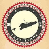 Vintage label-sticker cards of East Timor.  — Stock Vector