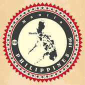 Vintage label-sticker cards of Philippines.  — Wektor stockowy