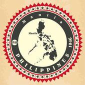 Vintage label-sticker cards of Philippines.  — Διανυσματικό Αρχείο