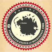 Vintage label-sticker cards of Federated States of Micronesia.  — ストックベクタ