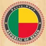 Постер, плакат: Vintage label cards of Benin flag