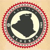 Vintage label-sticker cards of Algeria. — Stock Vector