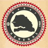 Vintage label-sticker cards of Senegal. — Stock Vector