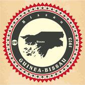 Vintage label-sticker cards of Guinea-Bissau. — Stock Vector