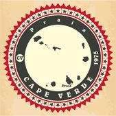 Vintage label-sticker cards of Cape Verde. — Stock Vector